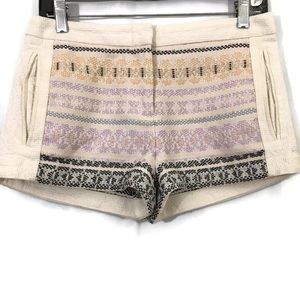 BCBGMaxazria Trey Style Embroidered Striped Shorts